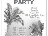White Party theme Invitations Palm Trees All White White Party Invitations