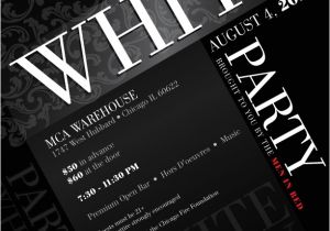White Party theme Invitations White Party Invitations Oxsvitation Com