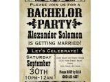 Who Gets Invited to Bachelor Party Vintage Country Bachelor Party Invitation Zazzle Com