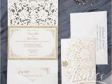 Wholesale Wedding Invitation Albums Graceful Tri Fold Laser Cut Pocket wholesale Wedding