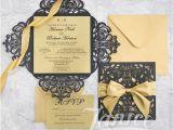 Wholesale Wedding Invitation Albums Modern Laser Cut wholesale Wedding Invitation Suite