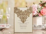 Wholesale Wedding Invitation Kits Customized Wedding Invitations Cards Laser Cut Gold