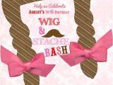 Wig and Mustache Party Invitations 1000 Images About Wig & Mustache Party Ideas On Pinterest