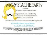 Wig and Mustache Party Invitations Party Invitation Wig & Mustache Party