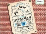 Wig and Mustache Party Invitations Wig and Mustache Birthday Invitation Wig & Stache Party Bash