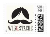 Wig and Mustache Party Invitations Wig and Stache Mustache Bash Birthday Party Stamp