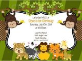 Wild Animal Birthday Party Invitations 17 Safari Birthday Invitations Design Templates Free
