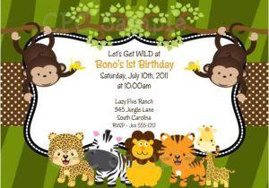 Wild Animal Birthday Party Invitations 17 Safari Birthday Invitations Design Templates Free