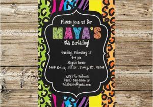 Wild Animal Birthday Party Invitations Items Similar to Wild Animal Print Birthday Party