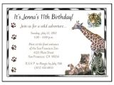 Wild Animal Birthday Party Invitations Jungle or Safari Wild Animals Birthday Party Invitation
