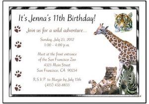 Wild Animal Birthday Party Invitations Jungle or Safari Wild Animals Birthday Party Invitation