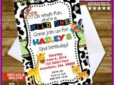 Wild Animal Birthday Party Invitations Wild Animal Birthday Party Invitation His or by Digigraphics4u