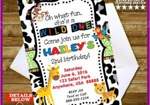 Wild Animal Birthday Party Invitations Wild Animal Birthday Party Invitation His or by Digigraphics4u