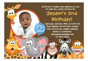 Wild Animal Birthday Party Invitations Zoo Animals Wild Animals Birthday Invitation Zazzle