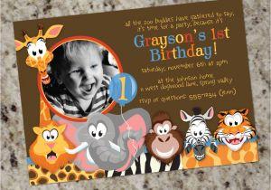 Wild Animal Birthday Party Invitations Zoo Birthday Party Invitation Zoo Animals Party Invitation