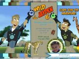 Wild Kratts Party Invitations Wild Kratts Birthday Invitation Customized with or