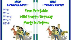 Wild Kratts Party Invitations Wild Kratts Birthday Party Invitation 1