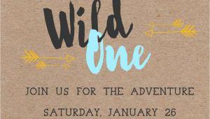 Wild One Birthday Invitation Template Wild One First Birthday Invitation