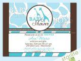 Wild Safari Blue Baby Shower Invitations Baby Shower Invitations Wild Safari Blue Style 2 by Starwedd