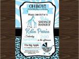 Wild Safari Blue Baby Shower Invitations Blue Safari Baby Shower Invitations