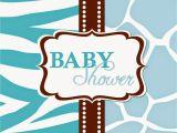 Wild Safari Blue Baby Shower Invitations Its Baby Shower Clip Art