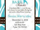 Wild Safari Blue Baby Shower Invitations Wild Blue Safari Baby Shower Invitation by Dreamdezigns On