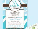 Wild Safari Blue Baby Shower Invitations Wild Safari Blue Baby Shower Invitations Style 2 by Starwedd