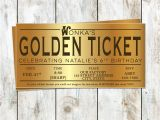 Willy Wonka Party Invitations Printable Free Willy Wonka Birthday Golden Ticket Birthday Invitation