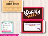 Willy Wonka Party Invitations Printable Free Willy Wonka Birthday Invite Diy Printable Instant Download