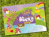 Willy Wonka Party Invitations Printable Free Willy Wonka Birthday Party Invitation Instantly Downloadable