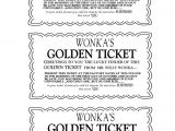 Willy Wonka Party Invitations Printable Free Willy Wonka Golden Ticket Invitations Charlie and the