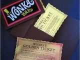 Willy Wonka Party Invites 12 Willy Wonka Golden Tickets as Birthday Invitations with