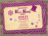 Willy Wonka Party Invites Willy Wonka Birthday Party Invitation Charlie and the