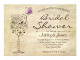 Wine and Cheese Bridal Shower Invitations Wine & Cheese Bridal Shower Invitation