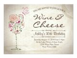 Wine and Cheese Bridal Shower Invites Wine & Cheese Birthday Invitation