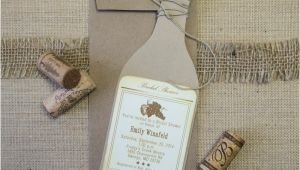 Wine Bottle Bridal Shower Invites Wine Bottle Bridal Shower Invitations too Chic & Little