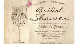 "Wine Bridal Shower Invites Wine & Cheese Bridal Shower Invitation 5"" X 7"" Invitation"
