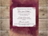 Wine Colored Wedding Invitations Burgundy Red Wine Watercolor Wedding Invitation Vineyard