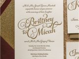 Wine Colored Wedding Invitations Kathryn Suite Glitter Package Coral Blush Glitter