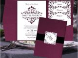 Wine Colored Wedding Invitations Pocket Fold Wedding Invitation Templates by Babieslove2party