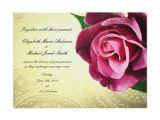 Wine Colored Wedding Invitations Wine Colored Vintage Rose Wedding Invitation Zazzle