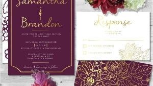Wine Colored Wedding Invitations Wine Colored Wedding Invitations Cobypic Com