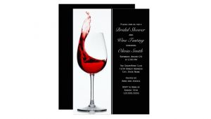 Wine Glass Bridal Shower Invitations Elegant Wine Glass Bridal Shower Invitations