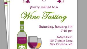 Wine Tasting Party Invitations Free Wine Tasting Invitation Printable or Printed with Free