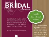 Wine themed Bridal Shower Invitations Etsy Items Similar to Printable Modern Wine themed Bridal