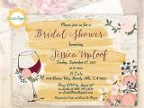 Wine themed Bridal Shower Invitations Etsy Wine themed Invitation Bridal Shower Rustic Invite Vineyard