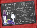 Wine themed Bridal Shower Invites Printable Wine theme Couples Coed Wedding Shower