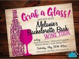Winery Bachelorette Party Invitations Bachelorette Invitation Bachelorette Wine Tasting Wine tour