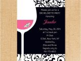 Winery Bachelorette Party Invitations Pink and Black Wine themed Bachelorette Invitation Ideas
