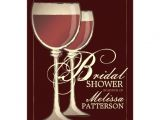Winery themed Bridal Shower Invitations Elegant Wine themed Bridal Shower Invitation